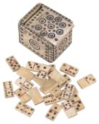 An early 19th c. Napoleonic Prisioner-of-war dominoes set