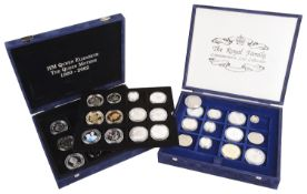 The Royal Family Commemorative Coinage 1952 - 2011 (2 boxes)