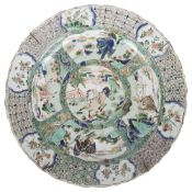 A Chinese Kangxi famille verte porcelain charger