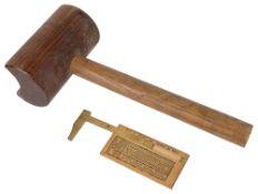Nautical interest, a John Rabone & Sons of Birm. no.1206 rope gauge(2)