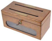A Vict. oak 'Answered / Unanswered' correspondence box