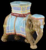 Another similar Royal Worcester majolica glazed elephant