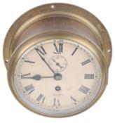 A Sestrel brass cased bulkhead ship's clock