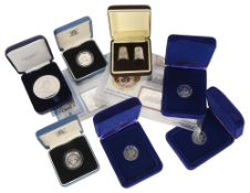 A collection of UK & Isle of Man silver coinage(22)