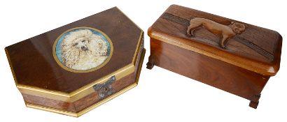 Two novelty trinket jewellery boxes(2)