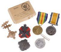 W.W.I medals awarded to PTE. G. H. G. Bromhead K.R.RIF.C C-9488(10)