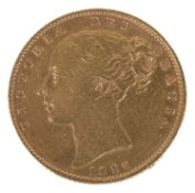 A Queen Victoria 1855 gold full sovereign