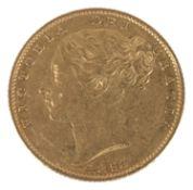 A Queen Victoria 1853 gold full sovereign