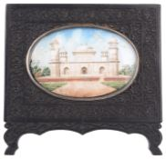 An Indian miniature on ivory, circa 1840