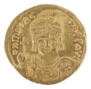 A Byzantine gold solidus of Justin II (565 - 578)