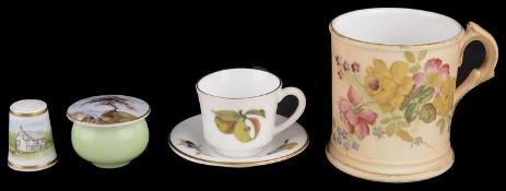 A Royal Worcester miniature pot and cover, 1910(4)
