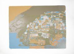 Geoffrey Elliott(Brit.b.1935) 'Positano','Pompei' limited ed prints(2)