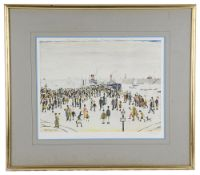 """Laurence S Lowry, RBA, RA (Brit.1887-1976) """"Ferry Boats"""" signed print"""