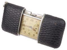 A Movado Ermeto Chronometer travel clock