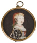An early 19th c. portrait miniature of a young girl