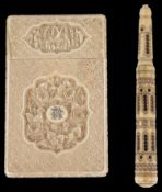 A 19th c. Cantonese ivory card case (2)