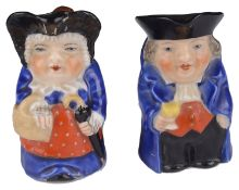 A Royal Worcester miniature porcelain Toby jug, 1920s(2)