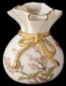 A Royal Worcester blush ivory spill vase