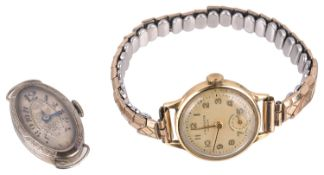 A 18ct white gold ladies cocktail wristwatch; one other (2)