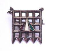 A rare Suffragette Holloway Prison silver brooch