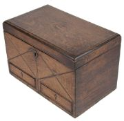 A Vict. oak stationery box