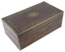 A Vict. rosewood and brass writing slope