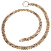 An attractive Vict. 15ct gold articulated choker necklace