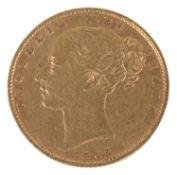 A Queen Victoria 1862 gold full sovereign
