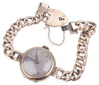 A 9ct rose gold ladies wristwatch,