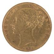A Queen Victoria 1854 gold full sovereign