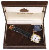 A 18k gold Jaeger Le Coultre gentlemans wristwatch,