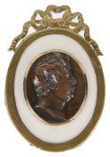 A 19th c. bronze cameo