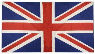 A printed wool Union Jack flag