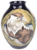 """A contemporary Limited Edition Moorcroft vase """"Otters at Play"""" designed by Kerry Goodwin, circa 2011"""