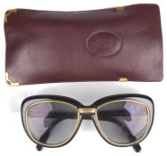 Cartier Conquete sunglasses, with Cartier burgundy leather case (2)