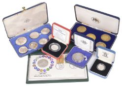 A collection of Silver UK Commemorative Coinage (6 boxes)