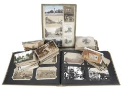 An interesting and large collection of postcards, 1904 and later (qty)