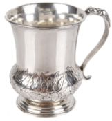 An Indian Colonial white metal christening mug, by Pittar & Co Calcutta (1825 - 1848)