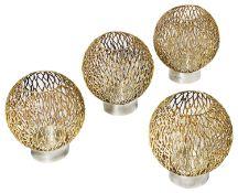 Stuart Leslie Devlin set of four parcel-gilt-silver candle holders, hallmarked 1970