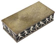 Stuart Leslie Devlin parcel-gilt-silver cased cylinder music box, hallmarked London 1976