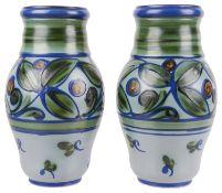 A pair of Upsala Ekeby Swedish pottery vases, 20th century