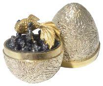 "Stuart Leslie Devlin silver-gilt ""Fish Surprise Egg"", hallmarked London 1970"