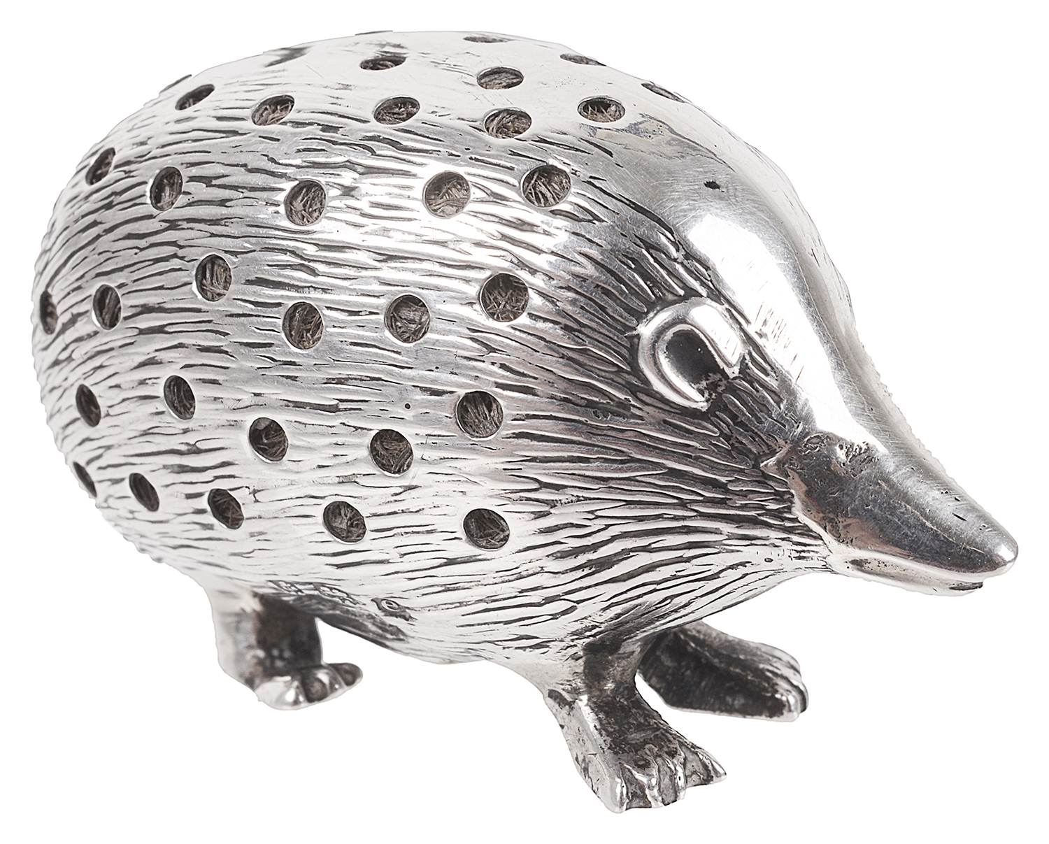 Lot 28 - An Edwardian silver novelty hedgehog pin cushion, hallmarked Birmingham 1904