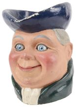 Lot 81 - A rare and unusual ventriloquist/automaton papier mache Toby jug, mid 20th century