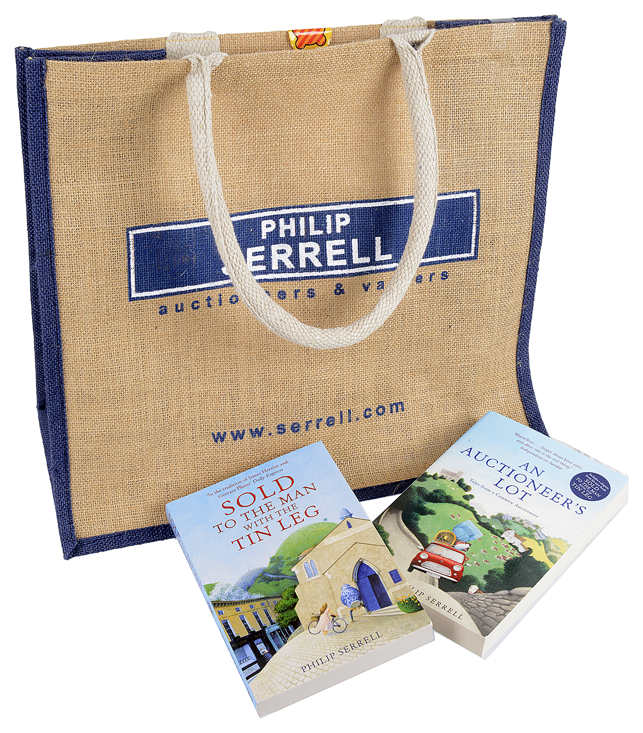 Lot 60 - Philip Serrell Signed Books And Goodie Bag