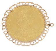 An Austrian 1915 4 ducat gold coin