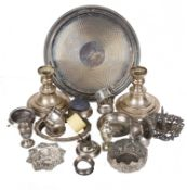 A miscellaneous collection of Victorian and later silver and silver plated wares