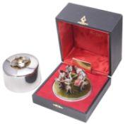 """Stuart Leslie Devlin """"Ten Lords a-leaping"""" Twelve Days of Christmas Surprise parcel-gilt silver box"""