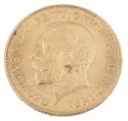 A George V 1913 gold half sovereign
