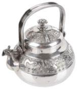 A Dutch Silver Teapot, late 19th /early 20th century
